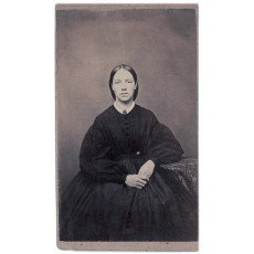 Retrato femenino de epoca. R.D Kesler Photographer. Burlinton. Wisconsin. EEUU. 1860