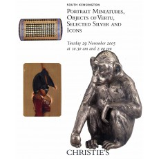 Portrait miniatures, objects of vertu, selected silver and icons