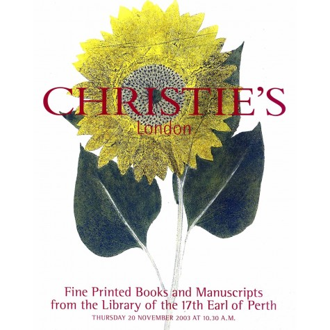 Christie's. Fine printed books and manuscripts from the library of the 17th earl of perth.