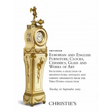 Christie's. European and english furniture, clocks, ceramics, glass and works of art.