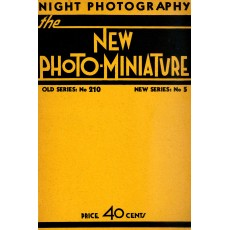 The New Photo-Miniature: Night photography