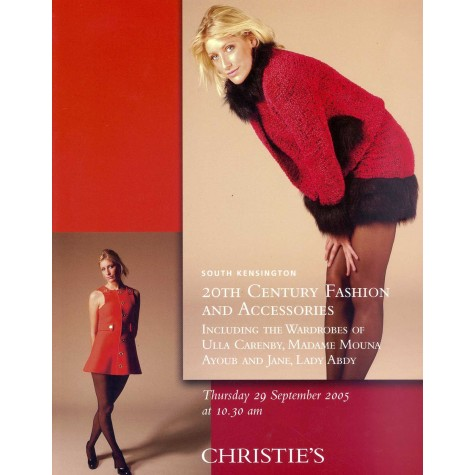 Christie's. 20th Century fashion and accesories including the wardrobes of Ulla Carenby, Madame Mouna Ayoub and Jane, Lady Abdy.