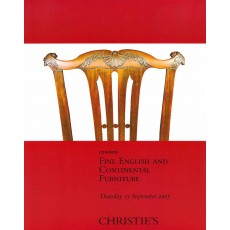 Christie's. Fine English and Continental Furniture.