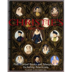 Christie's. Fine Printed Books and Manuscripts Including Americana.