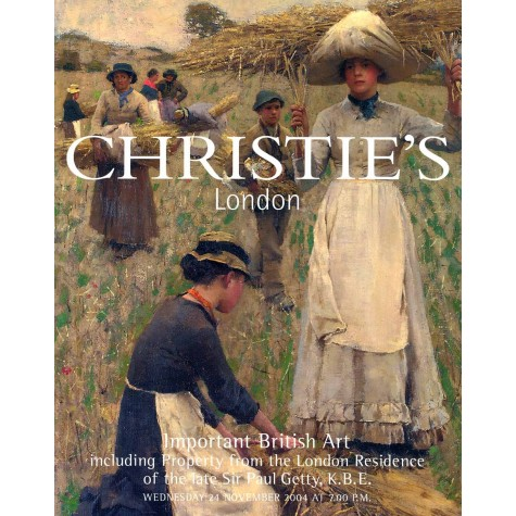 Christie's. Important British Art, including Property from the London Residence of the late Sir Paul Getty, K.B.E.