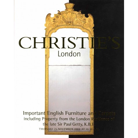 Christie's. Important English Furniture and Carpets including Property from the London Residence of the late Sir Paul Getty
