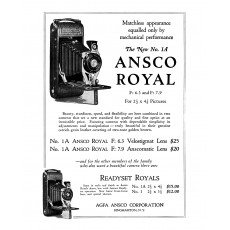 CAMARA DE FUELLE ANSCO ROYAL No. 1A.